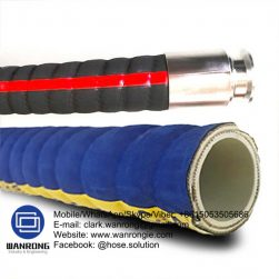 Supply Chemical Suction & Delivery Hose; Application: Common chemical use; Special Features: FDA approved, Anti-static; Tube: UHMWPE, Cover: EPDM; Reinforcement: HS synthetic cord + Wire helix; WP: 150 psi; Temperature: -20°C to 100°C; Size Range: 25mm to 100mm