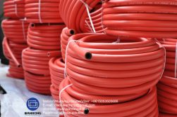 Supply Extra Heavy Duty Air Hose; Application: Drill rigs; Special Feature: Ozone resistant; Tube: SBR, Cover: CR; Reinforcement: 4 plies of steel wire cord; WP: 1000 psi; Temperature: -40°C to 120°C; Size Range: 38mm to 100mm