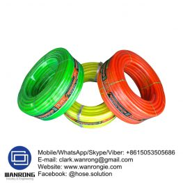 "Supply Garden Hose; Application: Garden, community, factories and mines, Family Water, Food Beverage Delivery; Special Feature: Flexible, Stretching resistant, larger water discharge; Tube: PVC, Cover: PVC; Reinforcement: PVC Fiber Braiding; WP: 3-8 bar; Temperature: -20°C to 65°C; Color: Green, Blue, Black and orange; Size Range: 1/4""-2"""