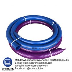 """Supply Garden Hose; Application: Garden, community, factories and mines, Family Water, Food Beverage Delivery; Special Feature: Flexible, Stretching resistant, larger water discharge; Tube: PVC, Cover: PVC; Reinforcement: PVC Fiber Braiding; WP: 3-8 bar; Temperature: -20°C to 65°C; Color: Green, Blue, Black and orange; Size Range: 1/4""""-2"""""""