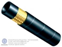 "Supply Hydraulic Hose EN853 1SN; Application: Medium pressure hydraulic applications including mobile, machine tool and agricultural applications, use in petroleum or water based hydraulic fluids; Standard: DIN/EN853 1SN; Tube: NBR, Cover: CR; Reinforcement: One layer of high-tensile steel wire braid; Surface: Wrapped and Smooth; Working Pressure: 40~250 bar, Burst Pressure: 160~1000 bar; Working Temperature: -40~120℃ Size Range: 3/16""~2"""