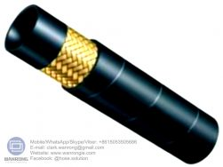 """Supply Hydraulic Hose EN853 1ST; Application: Medium pressure hydraulic for mobile, machine tool and agricultural, petroleum or water based hydraulic fluids; Standard: DIN/EN853 1ST; Tube: NBR, Cover: CR; Reinforcement:One layer of high-tensile steel wire braid; Surface: Wrapped and Smooth; Working Pressure: 40~250 bar, Burst Pressure: 160~1000 bar; Working Temperature: -40~120℃; Size Range: 3/16""""~2"""""""