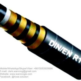 "Supply Hydraulic Hose SAE 100 R10; Application: Super pressure applications used for petroleum based hydraulic fluids; Tube: NBR, Cover: CR; Reinforcement: Four layers of steel wire spiral; Surface: Wrapped and Smooth; Working Pressure: 140~500 bar, Burst Pressure: 660~1800 bar; Working Temperature: -40~120℃; Size Range: 1/4""~2"""