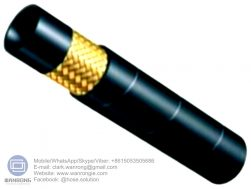 """Supply Hydraulic Hose SAE 100 R1A; Application: Medium pressure hydraulic for mobile, machine tool and agricultural, petroleum or water based hydraulic fluids; Tube: NBR, Cover: CR; Reinforcement: One layer of high-tensile steel wire braid; Surface: Wrapped and Smooth; Working Pressure: 40~250 bar, Burst Pressure: 160~1000 bar; Working Temperature: -40~120℃; Size Range: 3/16""""~2"""""""