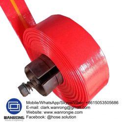 Supply Layflat Heavy Duty Hose; Application: water drainage for open pit mines, engineering, dam, construction, mountains; Tube: PVC, Cover: PVC; Reinforcement: High strength textile; Special Features: UV stabilized, Abrasion resistant; WP: *150 to 70 psi; Temperature:-20°C to 54°C; Size Range: 25mm to 200mm