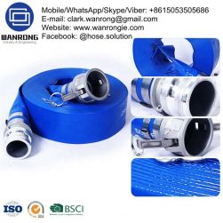 Supply Layflat Medium Duty Hose; Application: Mines, construction, irrigation; Tube: PVC, Cover: PVC; Reinforcement: High strength textile; WP: *100 to 45 psi; Special Features: UV stabilized, Abrasion resistant; Temperature: -20°C to 54°C; Size Range: 25mm to 200mm