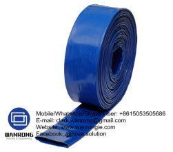 Layflat Medium Duty Hose Tube: PVC Cover: PVC Reinforcement: High strength textile WP: *100 to 45 psi Temperature: -20°C to 54°C Special Features: UV stabilized, Abrasion resistant Size Range: 25mm to 200mm Application: Mines, construction, irrigation WANRONG INDUSTRY & ENGINEERING LIMITED Mobile/WhatsApp/Skype/Viber: +8615053505686 Tel: +86-18853542801 Email: clark.wanrong@gmail.com Website: https://www.wanrongie.com Facebook: http://www.facebook.com/Industrial.Rubber.Hose LinkedIn: http://www.linkedin.com/showcase/industrial-hoses Twitter: http://twitter.com/hose_solution Pinterest: http://pin.it/vtvhfuls6krw4y YouTube: http://youtu.be/e6rz0KQ4qwQ