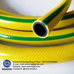 Supply PVC Safety Air & Water Delivery Hose; Application: General purpose air & water; Special Feature: UV stabilized; Tube: PVC, Cover: Ribbed PVC; Reinforcement: HS polyester braid; WP: 300 to 150 psi; Temperature: 0°C to 60°C; Size Range: 6mm to 50mm