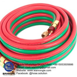 Supply Single Line Welding Hose; Application: For welding and cutting equipment; Tube: NR/SBR, Cover: SBR/EPDM blend; Reinforcement: High strength polyester braid; WP: 217 psi; Special Features: To AS 1335:1995; Temperature: -25°C to 75°C; Size Range: 5mm to 10mm