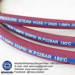 Supply Steam Hose; Application: Designed for services with saturated steam in heat control; Special Features: BS 5342 & Ozone resistant; Tube: EPDM, Cover: EPDM; Reinforcement: Plies of steel wire cord; WP: 270 psi; Temperature: -40°C to 210°C; Size Range: 12.5mm to 100mm