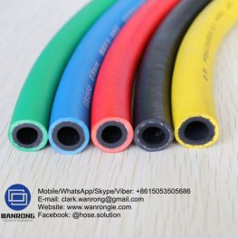 Supply Super Air & Water Delivery Hose; Application: Construction, Mines, Industrial; Special Feature: Weather & Ozone Resistant; Tube: SBR, Cover: EPDM; Reinforcement: High strength synthetic cord; WP: 300 psi; Temperature: -30°C to 70°C; Size Range: 12.5mm to 100mm
