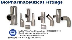 Supply Bio Pharmaceutical Fittings: High purity biopharm clamp and weld elbows, weld and reducing tees, clamp and weld concentric and concentric reducers, end caps, eld caps O p. 534 and auto weld ferrules