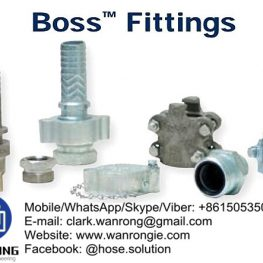 Boss Fittings Boss ground joint and washer type couplings, male and LP stems, Boss clamps, air hammer fittings, Boss Holedall fittings, steam quick disconnects, hammer unions, mining fittings WANRONG INDUSTRY & ENGINEERING LIMITED Mobile/WhatsApp/Skype/Viber: +8615053505686 Tel: +86-18853542801 Email: clark.wanrong@gmail.com Website: https://www.wanrongie.com Facebook: http://www.facebook.com/Hose.Fittings.Connector.Clamp LinkedIn: http://www.linkedin.com/showcase/hose-fittings Twitter: http://twitter.com/hose_solution Pinterest: http://pin.it/uccu76xa4ao2l5 YouTube: http://youtu.be/5KhjasQsrjQ