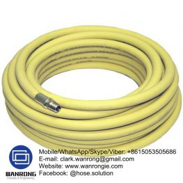 "Supply Heavy Duty Air Hose Assembly; Construction: Hose fitted with Holedall High Pressure Couplings; Application: Designed especially for the use on drill rigs where a high pressure, high temperature hose is required, oil mist resistant tube. Commonly referred to as a ""Bull Hose""; Also Available: A range of alternative end fittings are available with your requirements; Assembly WP: 1,000 psi; Temperature Range: -40°C to 120°C; ID Sizes: 40mm, 50mm, 65mm, 80mm; Standard Lengths: 20m"