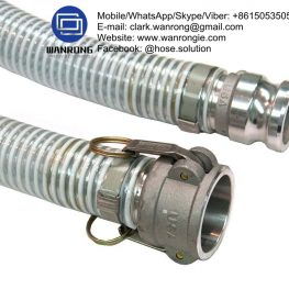Heavy Duty Suction Hose Assembly Assembly WP: 58 to 250 psi Temperature Range: -5°C to 60°C ID Sizes: 25mm to 125mm Standard Lengths: 20m & 50m Construction: Hose fitted with Camlocks & Pre-Form Clamps Application: Economical general purpose PVC suction delivery hose for water, mud etc. Used in agriculture and industry using tank trucks. Also Available: A large variety of PVC suction hoses to suit different applications. Variety of end configurations and clamping. WANRONG INDUSTRY & ENGINEERING LIMITED Mobile/WhatsApp/Skype/Viber: +8615053505686 Tel: +86-18853542801 Email: clark.wanrong@gmail.com Website: https://www.wanrongie.com Facebook: http://www.facebook.com/Hose.Assembly.Supplier LinkedIn: http://www.linkedin.com/showcase/hose-assembly-solution Twitter: http://twitter.com/hose_solution Pinterest: http://pin.it/etrmrusm3nalhb YouTube: http://youtu.be/C4m9I3g3PiI