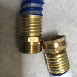 "Supply Internal Expansion Fittings: Size: 5/8"", Garden Hose Fitting (Male), Garden Hose Fitting (Female), Ferrule, Internal Expansion Machine"
