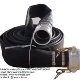 Layflat Hose Assembly Assembly WP: 76mm-250 psi 100mm-174 psi, Temperature Range: -20°C to 80°C ID Sizes: 76mm-200mm Standard Lengths: 76mm to 100mm-25m, 150mm-20m Construction: Layflat Hose fitted with Bauer Compatible Couplings with Ultralock Clamps Application: Discharge hose for pumps, dewatering, bypass hose, drainage systems, irrigation/watering. Also Available: With Camlocks/flanged hose tails medium duty, extra heavy duty mining layflat hoses. WANRONG INDUSTRY & ENGINEERING LIMITED Mobile/WhatsApp/Skype/Viber: +8615053505686 Tel: +86-18853542801 Email: clark.wanrong@gmail.com Website: https://www.wanrongie.com Facebook: http://www.facebook.com/Hose.Assembly.Supplier LinkedIn: http://www.linkedin.com/showcase/hose-assembly-solution Twitter: http://twitter.com/hose_solution Pinterest: http://pin.it/6jsg75a2lbfq4t YouTube: http://youtu.be/bq3WgRCfIbI