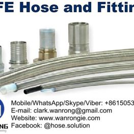 Supply PTFE Hose Fittings: Nominal fittings, true ID fittings, smooth bore PTFE conductive and non-conductive hose, open pitch convoluted hose, heavy wall true ID smooth bore hose
