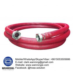PVC Wine & Beverage Suction Hose Assembly-Helix Temperature Range: 0°C to 60°C ID Sizes: 25mm to 102mm Standard Lengths: 20m Construction: Hose fitted with Stainless Camlocks & Pre-Formed Clamps Application: Special designed for heavy duty suction and delivery of wine. Non-toxic heavy duty construction specially blended for distilled and fermented beverages. Wineries Also Available: Food grade and sanitary fittings. Wash down hoses. WANRONG INDUSTRY & ENGINEERING LIMITED Mobile/WhatsApp/Skype/Viber: +8615053505686 Tel: +86-18853542801 Email: clark.wanrong@gmail.com Website: https://www.wanrongie.com Facebook: http://www.facebook.com/Hose.Assembly.Supplier LinkedIn: http://www.linkedin.com/showcase/hose-assembly-solution Twitter: http://twitter.com/hose_solution Pinterest: http://pin.it/2xe63wvu3nmas6 YouTube: http://youtu.be/FxtbYKdx0YE