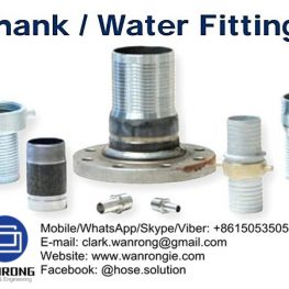 Supply Water Shank Fittings: Menders, nipples, suction couplings, foot valves, strainers, skimmers, long and short shank fittings, spray hose couplings, quick connects, inserts